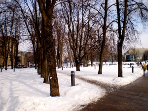 Vilnius in the snow