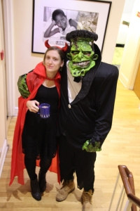 Having a cuppa with Frankenstein's monster