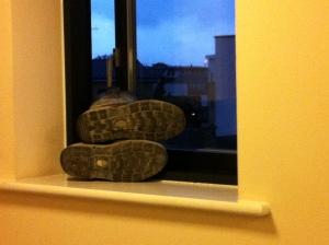 Neighbours' boots