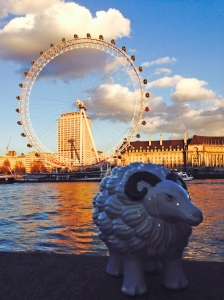 Mabel in front of the London Eye