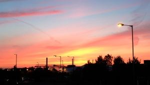 Sunset over Greenhithe