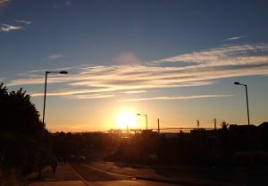 Another sunset over Greenhithe, Kent