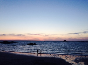 Sunset at Cobo Bay, Guernsey