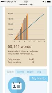 NaNoWriMo - 50,000 words!
