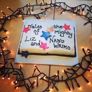 NaNoWriMo cake