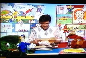 Phillip Schofield in the CBBC Broom Cupboard