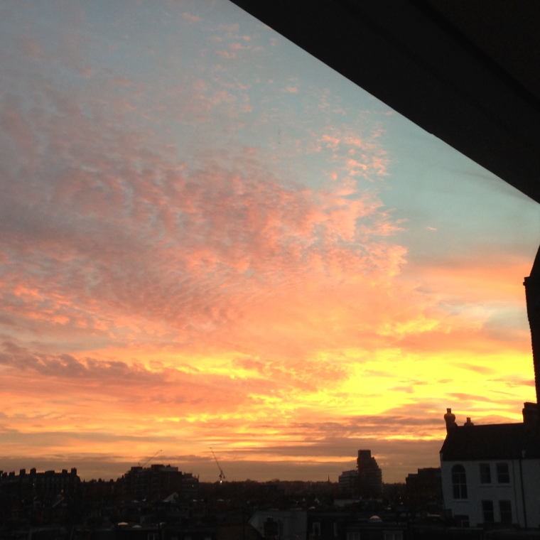 Sunset over Putney