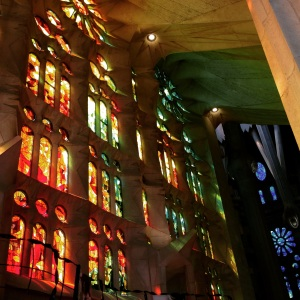 Sagrada Familia stained glass windows