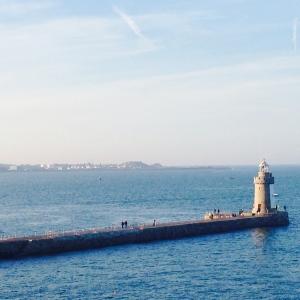 Lighthouse seen from Castle Cornet, Guernsey