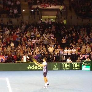 James Ward at Davis Cup, Glasgow
