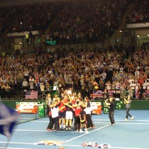 Celebrations at Davis Cup, Glasgow