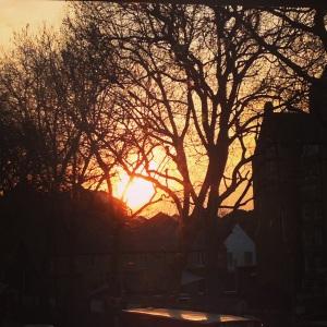 Sunset over Fulham, London
