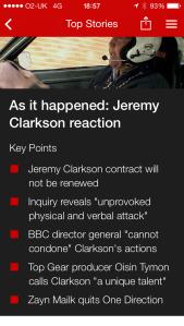 Jeremy Clarkson reaction