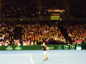 Andy Murray at Davis Cup, Glasgow
