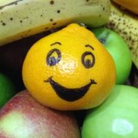 Happy orange