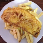 Fish and chips, Whitstable, Kent