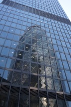 The Gherkin reflected in the Leadenhall Building, City of London
