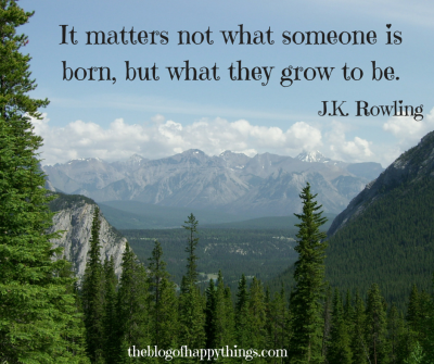 It matters not what someone is born, but what they grow to be.